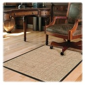Deflect-O Corporation Chairmat, Chunky Wool Jute, Hard Floor, 46&quot;x60&quot;, Tan
