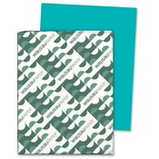 "Wausau Papers Card Stock Paper, 65lb., 8-1/2""x11"", Terrestrial Teal"