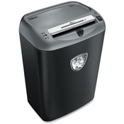 Fellowes Mfg. Co. Cross-Cut Shredder, 12 Sht Cap, 20-1/4&quot;x15&quot;x11-1/4&quot;, Black