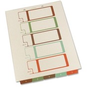 Selco Industries, Inc.  TOC Dividers, Ltr, 5-Tab, 75lb, Bottom Tab, Ivory