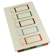 Selco Industries, Inc.  TOC Dividers, Lgl, 75lb. Brightness, 5-Tab, 2-Hole, Ivory