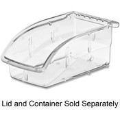 "Akro-Mils  Supply Bin, 4-1/8""x7-3/8""x3-1/4"", Clear"