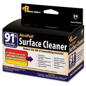 Read/Right AlcoPad Surface Cleaner, 24 Wipes, 24/PK