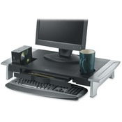 "Fellowes Mfg. Co. Premium Monitor Riser,Adjust Hght,27""x14-1/16""x4-3/16"",BK/SR"