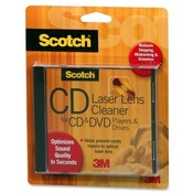 3M Commercial Office Supply Div. CD/DVD Laser Lens Cleaner, Optimizes Sound Quality