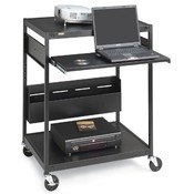 "Bretford Manufacturing Inc Data Projector Cart, 4 Outlets, 20' Cord, 24""x18""x42"", Black"