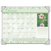 "At-A-Glance  Monthly Desk Calendar,12-Month Jan-Dec,Antique Floral,22""x17"""