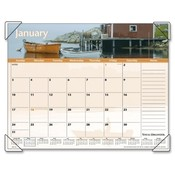 "At-A-Glance  Monthly Desk Pad,12 Months,Jan-Dec,22""x17"",Images of the Sea"
