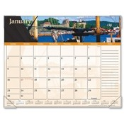 "At-A-Glance  Monthly Desk Pad, 12 Months, Jan-Dec, 22""x17"", Harbor Views"