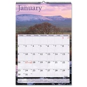 Monthly Wall Calendar- Jan-Dec - Scenic Photos