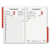 At-A-Glance  Desk Cal. Refill,F/ 17-Style,Red Monthly Tabs,3-1/2&quot;x6&quot;