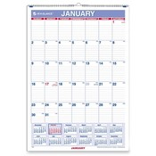 At-A-Glance  Monthly Wall Calendar,Jan-Dec,1 PPM,8&quot;x11&quot;,BE/WE