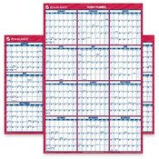 "At-A-Glance  Erasable Wall Calendar,2-Sided,Horz/Vert,32""x48"",Red/Blue"