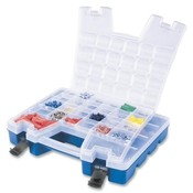 "Akro-Mils  Portable Organizer,13-3/8""x18-1/4""x3-5/8"",BE Base/CL Lid"