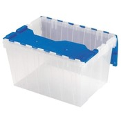 "Akro-Mils  Keep Box, 12-Gallon, 15""x21-1/2""x12-1/2"", Clear/Blue"