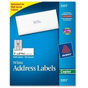 "Avery Consumer Products  Copier Label, Mailing, 1""x2-13/16"", 3300/BX, White"