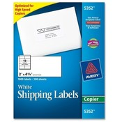 "Avery Consumer Products  Copier Label, Mailing, 2""x4-1/4"", 1000/BX, White"