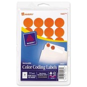 Avery Consumer Products  Removable Labels, 3/4&quot; Round, 1008/PK, Orange