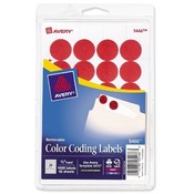 Avery Consumer Products  Removable Labels, 3/4&quot; Round, 1008/PK, Red