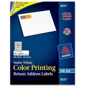 Avery Consumer Products  Color Inkjet Labels,Matte,Rectangle,3/4&quot;x2-1/4&quot;,600/PK,WE
