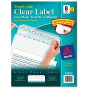 Avery Consumer Products  Index Label Dividers, Plastic, 8-Tab, 3HP Punched, Clear