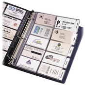 Avery Consumer Products Business Card Pages, Tabbed, Holds 100 2'x3-1/2' DS., Clear Wholesale Bulk