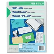 "Avery Consumer Products  Laser Labels, Full Sheet, 8-1/2""x11"", 100/BX, White"