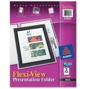Avery Consumer Products  2-Pocket Folder, With Front Window, Letter-Size, 2/PK, Black