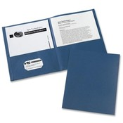Avery Consumer Products Two Pocket folder, 8-1/2'x11',20 Sht Cap., 25/BX, Dark Blue Wholesale Bulk
