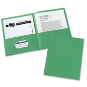 Avery Consumer Products Two Pocket folder, 8-1/2'x11',20 Sht Cap., 25/BX, Green Wholesale Bulk