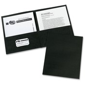 Avery Consumer Products Two Pocket folder, 8-1/2'x11',20 Sht Cap., 25/BX, Black Wholesale Bulk