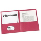 Avery Consumer Products Two Pocket folder, 8-1/2'x11',20 Sht Cap., 25/BX, Red Wholesale Bulk
