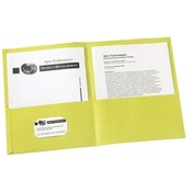 Avery Consumer Products Two Pocket folder, 8-1/2'x11',20 Sht Cap., 25/BX, Yellow Wholesale Bulk