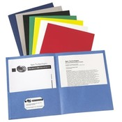 Avery Consumer Products Two Pocket folder, 8-1/2'x11',20 Sht Cap., 25/BX, Assorted Wholesale Bulk