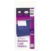Avery Consumer Products Business Card Holder, Self Adhesive, Holds 2'x3-1/2' Cards Wholesale Bulk