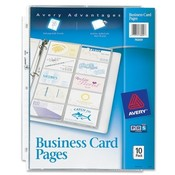 Avery Consumer Products Nonstick Business Card Pages,200 Card Cap,8-1/2'x11',Clear Wholesale Bulk