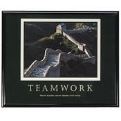 "Advantus Corp.  ""Teamwork"" Poster, 30""x24"", Black Frame"