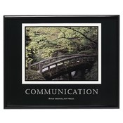 "Advantus Corp.  ""Communication"" Poster, 30""x24"", Black Frame"