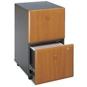 "Bush Industries 2-Drawer Ped.,File/File,15-5/8""x20-3/8""x28-1/4"",CY/SLT"