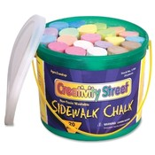 Chenille Kraft Company Sidewalk Chalk, Washable/Nontoxic, 20 Pc, 4'x1', Assorted Wholesale Bulk