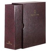"Franklin Covey  Storage Binder And Sleeves, Classic, 5-1/2""x8-1/2"", Burgundy"