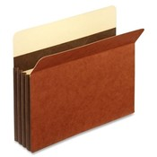 Globe Weis File Pockets, Letter, 24 Pt., 3-1/2', Exp, Brown Wholesale Bulk