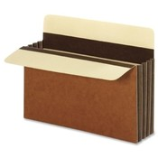 Globe Weis Accordion File Pocket,5-1/4' Exp.,Letter,10/BX,Cover,Brown Wholesale Bulk