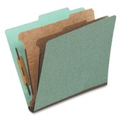 Globe Weis Classification Folder, 1 Partition, Letter, Green Wholesale Bulk