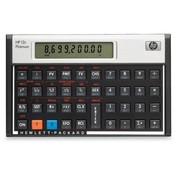"Hewlett-Packard Financial Calculator, 5-1/10""x3-1/10""x3/5, Platinum"