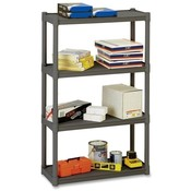 "Iceberg Enterprises  Four-Shelf Open Storage System, 32""x13""x54"", Charcoal Gray"
