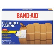 "Johnson & Johnson  Adhesive Bandages, Flexible Fabric, 1"", 100/BX"