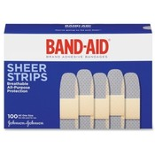 "Johnson & Johnson  Band-Aid, Brand Adhesive Bandages, 3/4"", 100/BX"