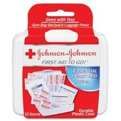 Johnson & Johnson  Mini First Aid Kit, 12 Pieces,