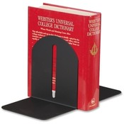 MMF Industries Fashion Bookends, Magnetic, Steel, 5-9/10'x5'x7', Black Wholesale Bulk